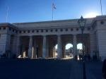 Impressive archway near palace