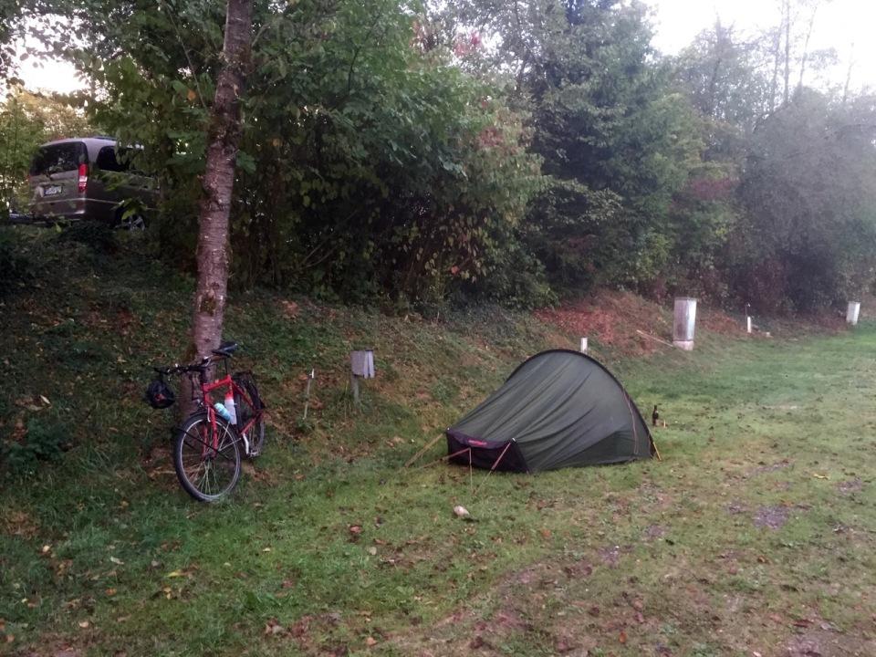 Damp morning at Dreiflusse camping