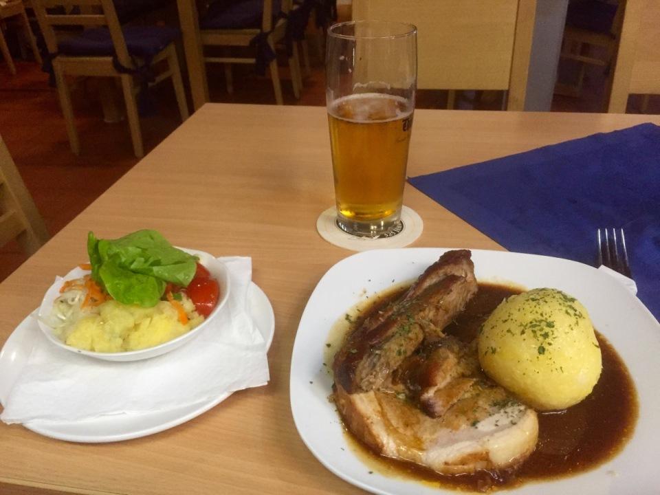 Schweinbraten for dinner, delicious