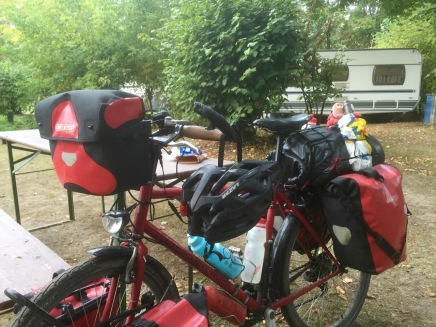 Packed up in Regensburg; wine within easy reach today
