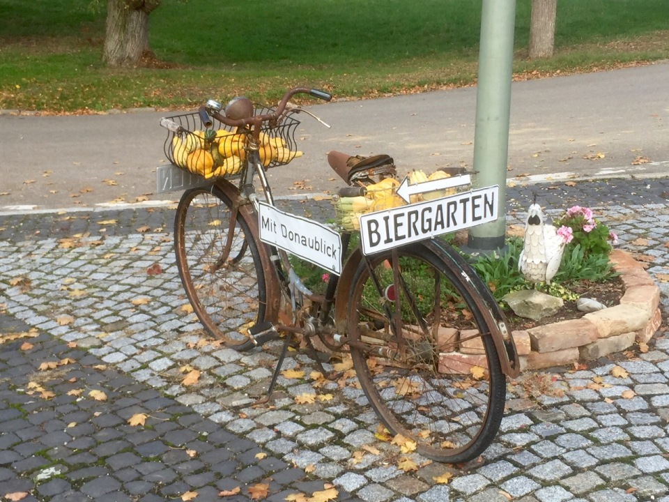 My kind of sign; bike and beer!