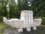 Boat statue in Dillingen an der Donau, bit odd