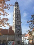Colourful tower in Lauingen