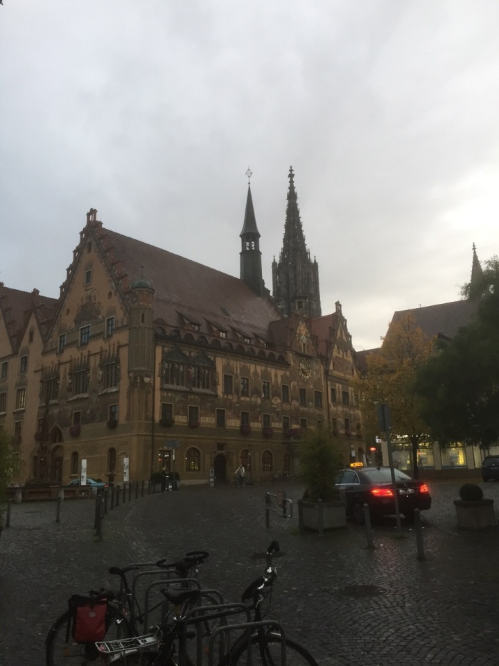 Rathaus with Cathedral on background, Ulm