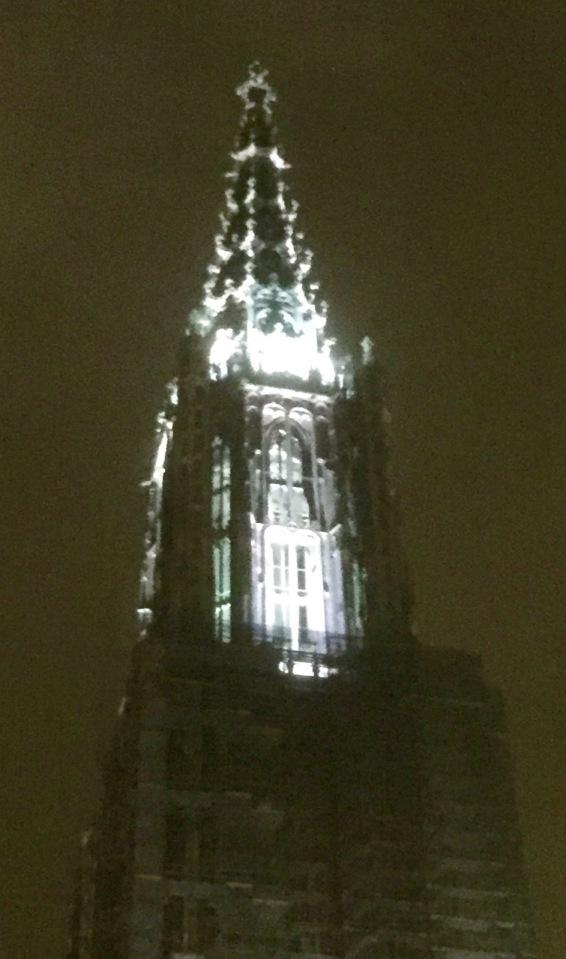 Ulm cathedral at night