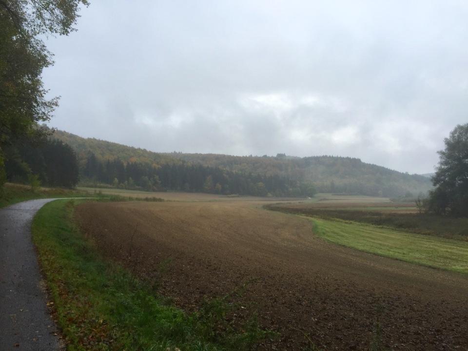 Autumn in the air, cycle route near Blaustein