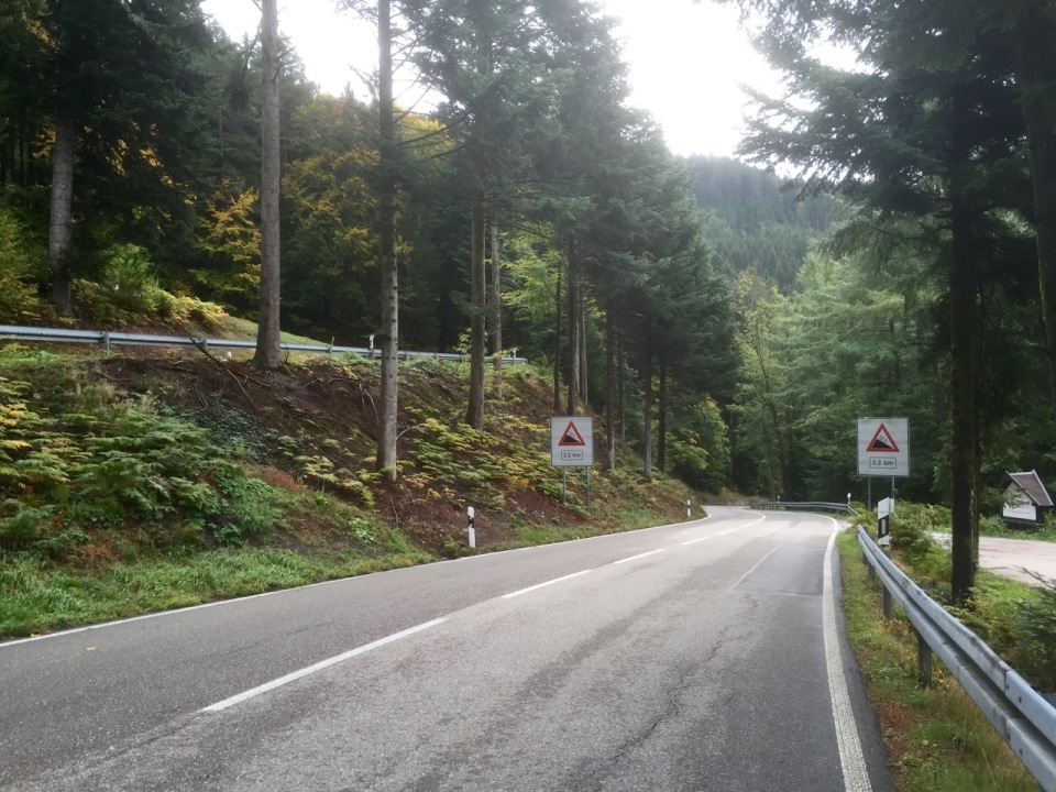 Steep descent and hairpins