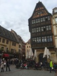 Old city centre, small cafes and wonderful buildings, Strasbourg