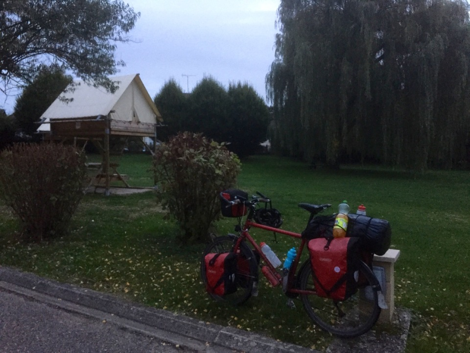 Pre-sunrise start from Saverne Camping