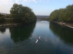 Crossing La Meuse in Verdun - lots of rowers out this evening