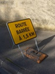 Route barrée - not what I wanted to see today