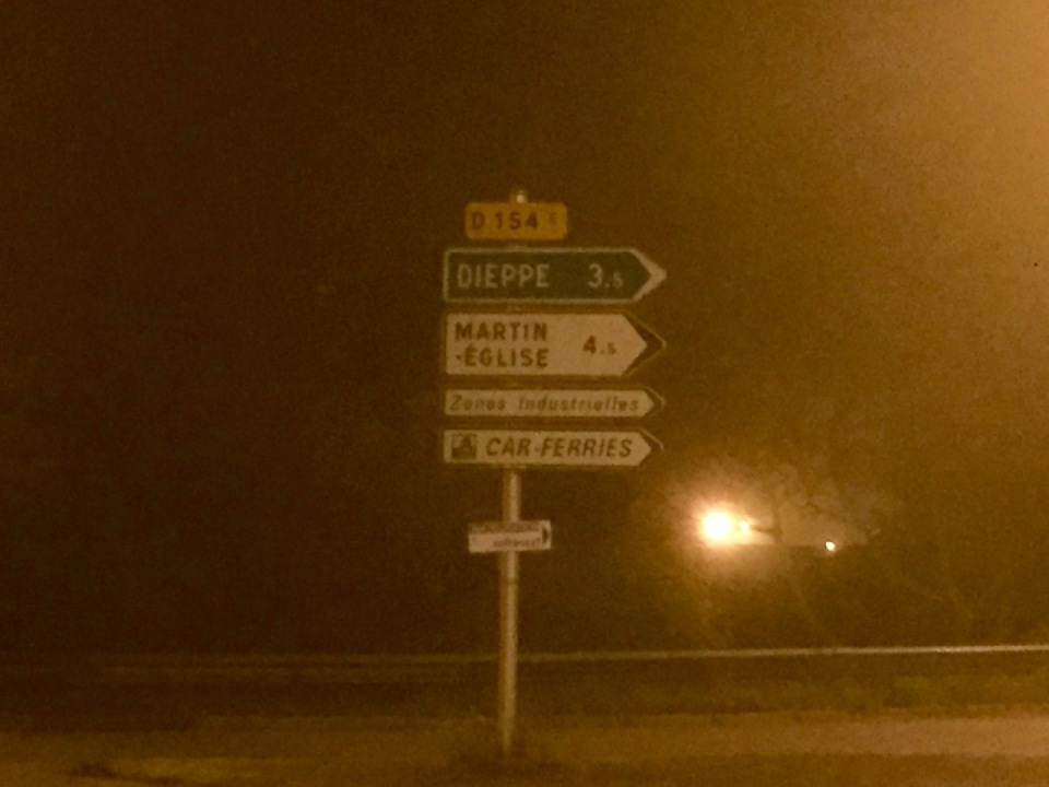 Outskirts of Dieppe, bit foggy still