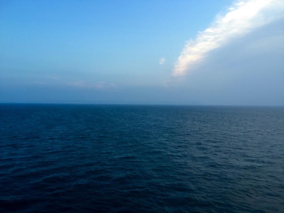 First sight of English coastline