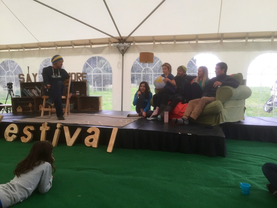 Yestival stage & Sunday Q&A session