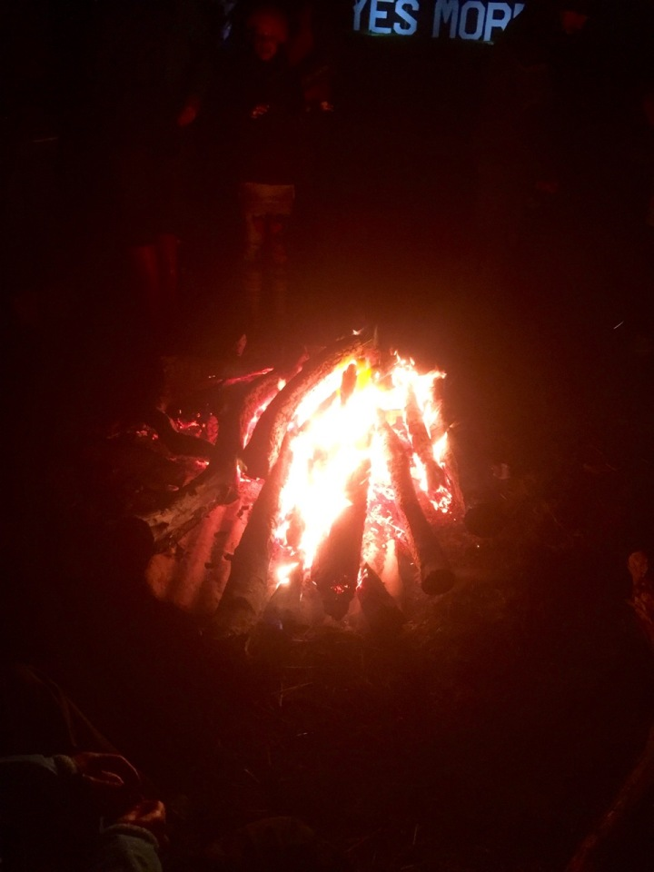 Yestival campfire; a great place to chat