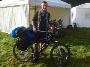 Tommy, the Hopeful Vagabond, as he was about to set off on Sunday