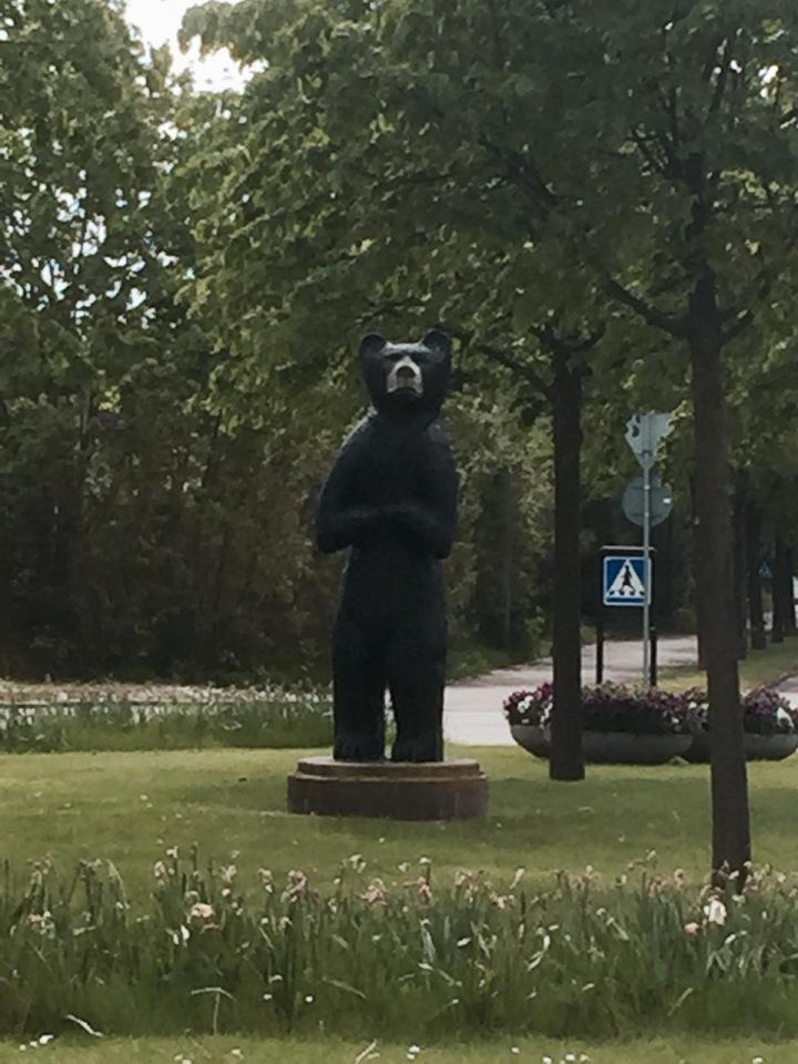 It's a bear, statue unfortunately, in Sweden
