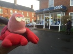 Lobster fugitive in Reepham, looking shifty near the cop shop
