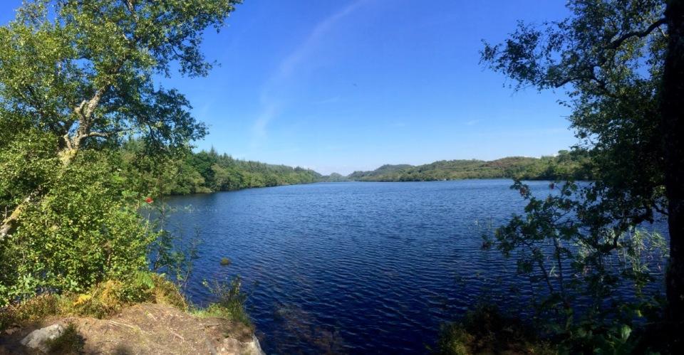Loch in Knapdale Forest - time for a tea break