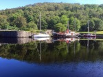Crinan Harbour - one of the yachts had crossed the Atlantic and not left for 3 years, cos it's nice here