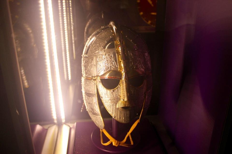 Then Sutton Hoo helmet