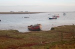Old fishing boat on the Orford estuary