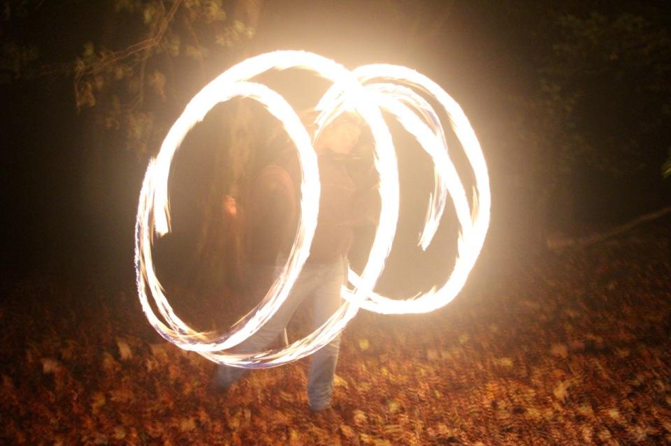 Spirals of fire