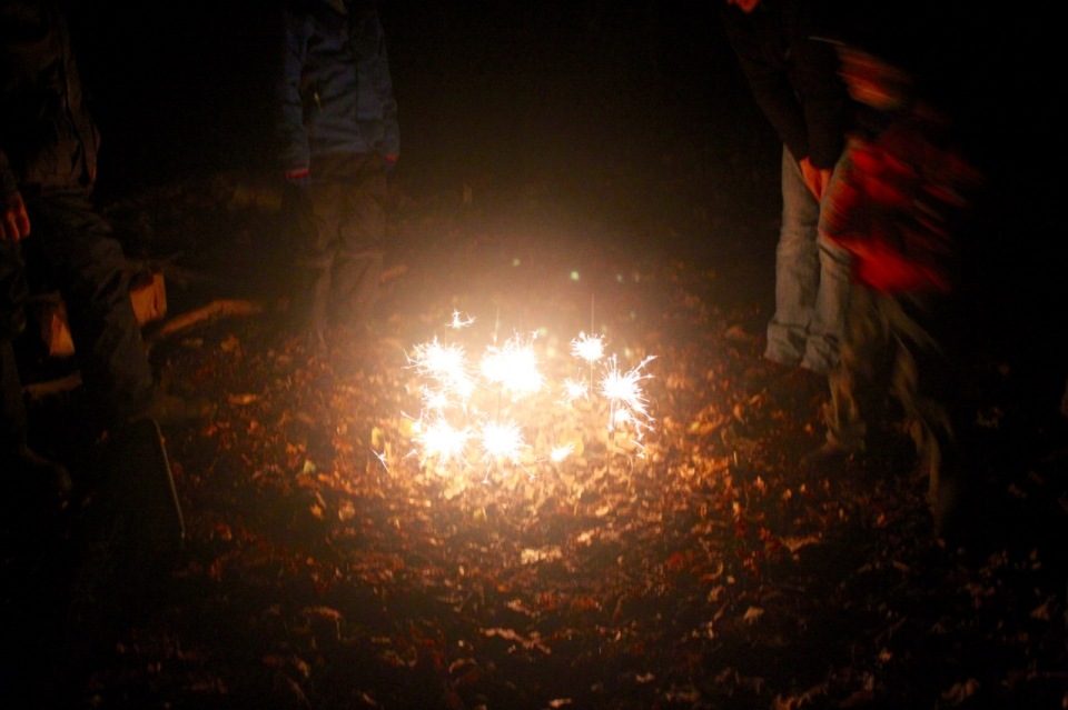 No bonfire night would be complete without sparklers