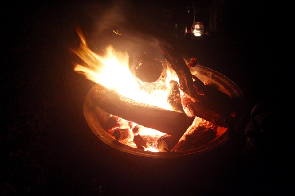 Staring at the campfire