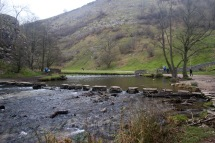 Dovedale stepping-stones - one's missing