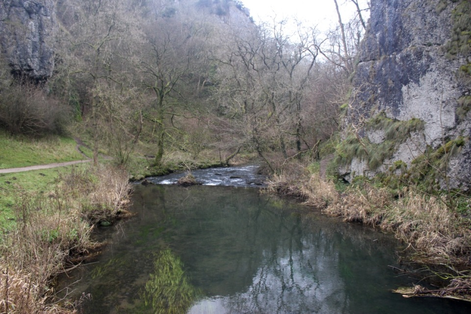 River Dove carving through the limestone gorge