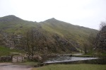 Back at the stepping-stones - view of Thorpe Cloud