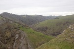 Top of Thorpe Cloud, looking back up Dovedale