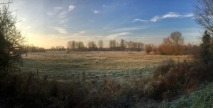 Frosty morning bike ride