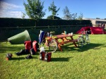 Stonehenge campsite - sunshine appears