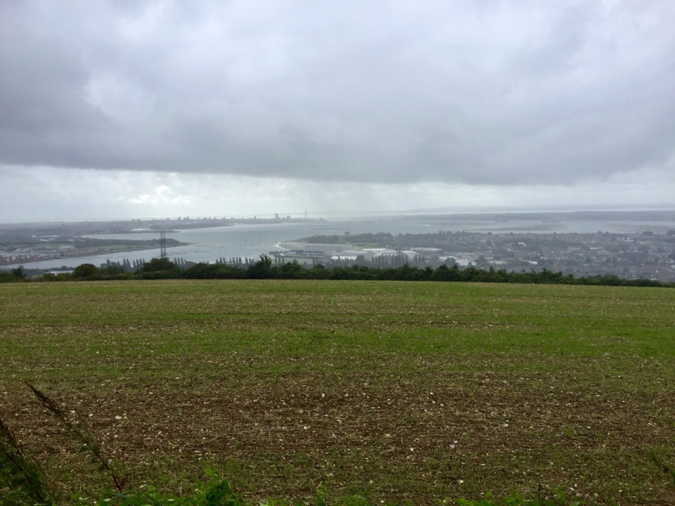 Top of the hill over Portsmouth - weather getting worse