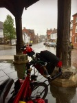 Wymondham - bit wet, stopped for pies from bakery