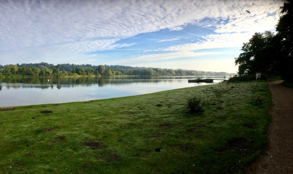 Morning at Whitlingham Broad - daily cycle commute