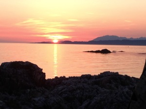 Cycle touring - enjoy spectacular sunsets in nature's embrace
