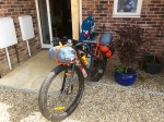 Trek 1120 - all packed up at home