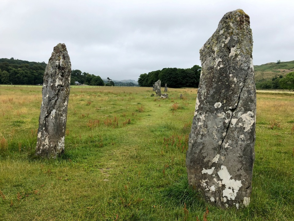 Standing stones on the way to Kilmartin