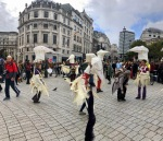 Norwich Birds in action in Trafalgar Square