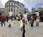 Norwich Birds in action in Trafalgar Square