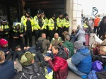 Protest outside the oil and gas summit - Andaz Hotel