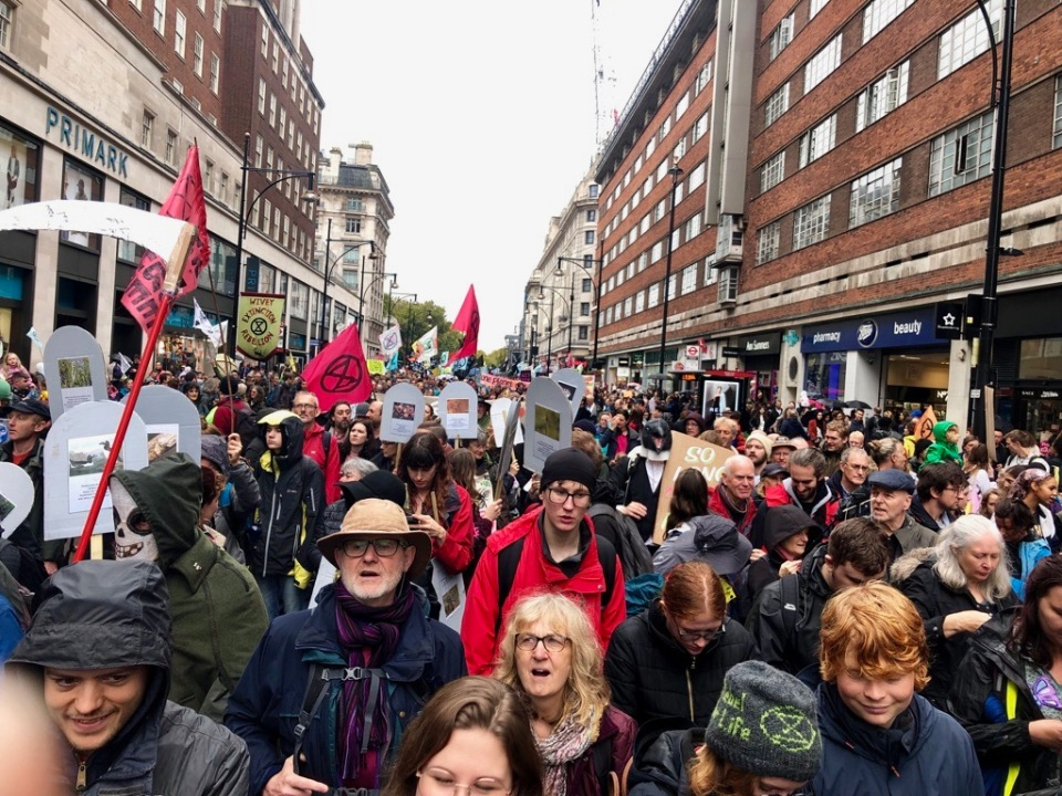 Grief March down Oxford Street