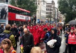 Red Brigade leading the procession