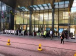 Rebels outside Barclay's Bank, Canary Wharf
