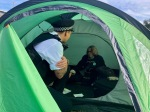 Norwich Rebel not moving from tent