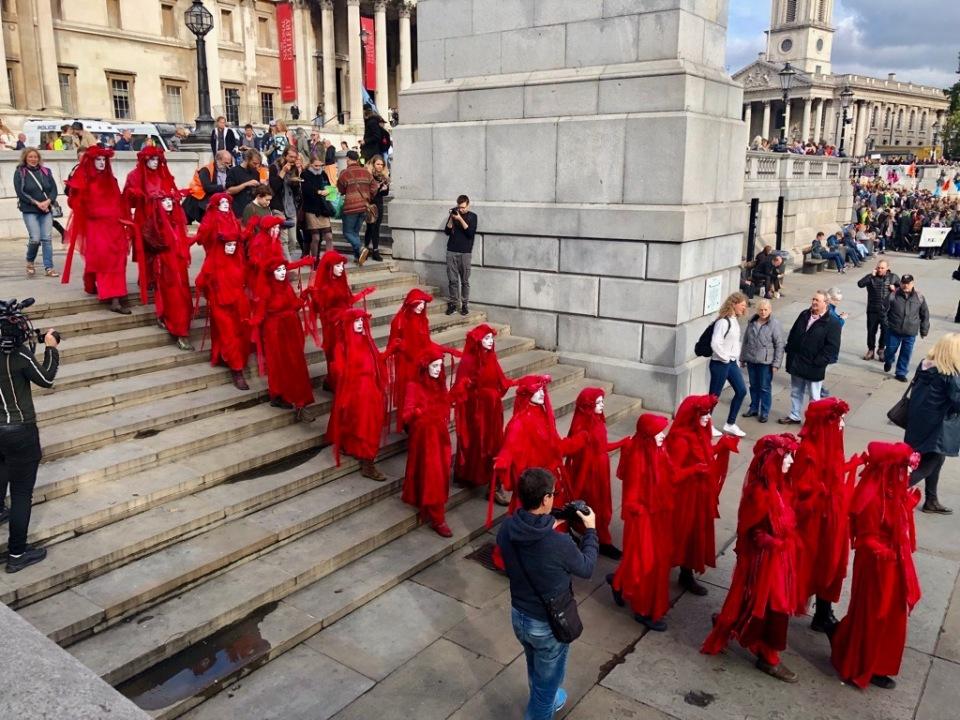 Red Brigade at Trafalgar Square