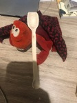 Lobster modelling spoon I carved